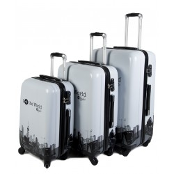"SET 3 BAGAGES (AISIE3) ""WORLD"""