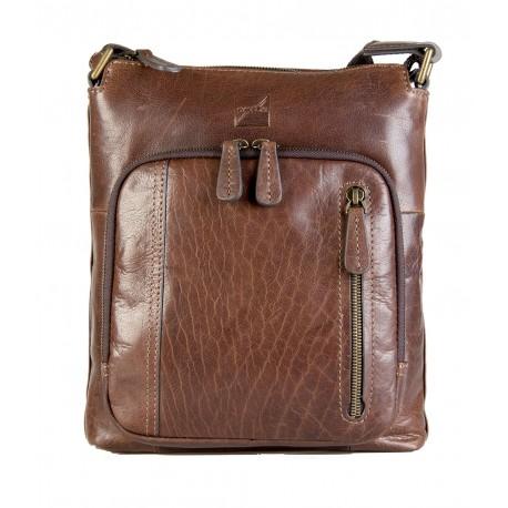 e536fd0f59 Sacoche homme en cuir, tendance et pratique, modèle NOGALES, marque ...