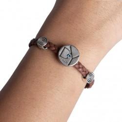 Bracelet cuir marron ( B17/28)