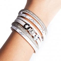 Bracelet cuir blanc (DY11)